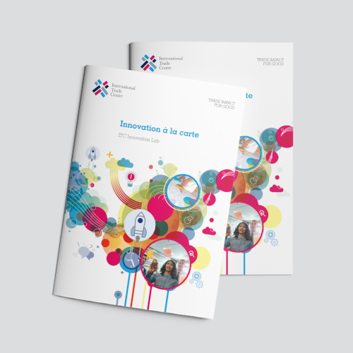 Colorful brochure front page